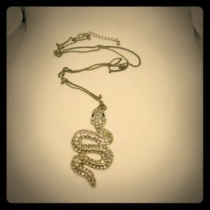 H&M Snake Crystal Necklace
